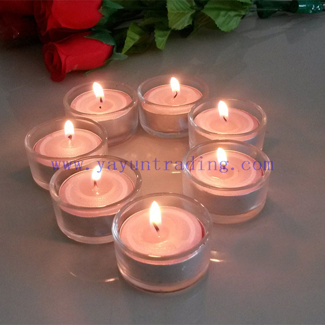 Promotion 1oz 30ml straight sided multi-color mini candle glass jars