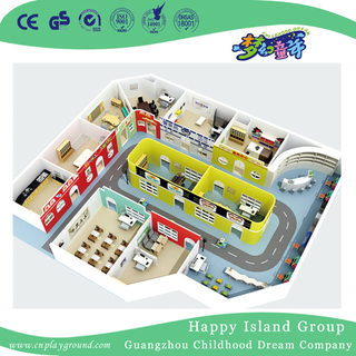 School Functional Room Whole Solution Wooden Role Playing House Street Decoration (HG-14)