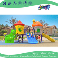 2018 New Design Outdoor Small Mushroom House Playground with Combination Slide (H17-A4)