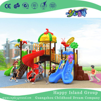 New Outdoor Tree Leaves and Animal Roof Children Playground Equipment (H17-B7)