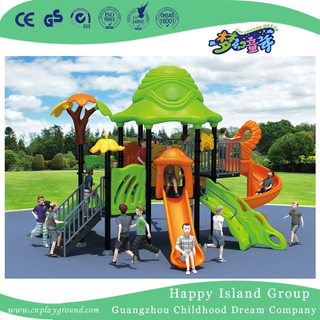 Outdoor Green Roof Outer Space Galvanized Steel Children Playground with Climbing Equipment (HG-9602)