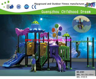 New! Middle Size Outdoor Vegetable Playground Play Structure Set with Children Fitness (HC-5701)