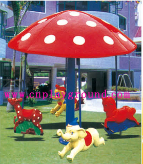 Hot Sale 4 Seats Children Red Mushroom Carousel Equipment For Amusement Park (HD-18803)
