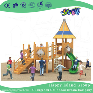 Outdoor Wooden Simple Playhouse Playground Equipment (1908402)