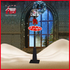(LV30175D-HSH11) Christmas Vertical Street Lamp with Santa Claus Snowing LED Light