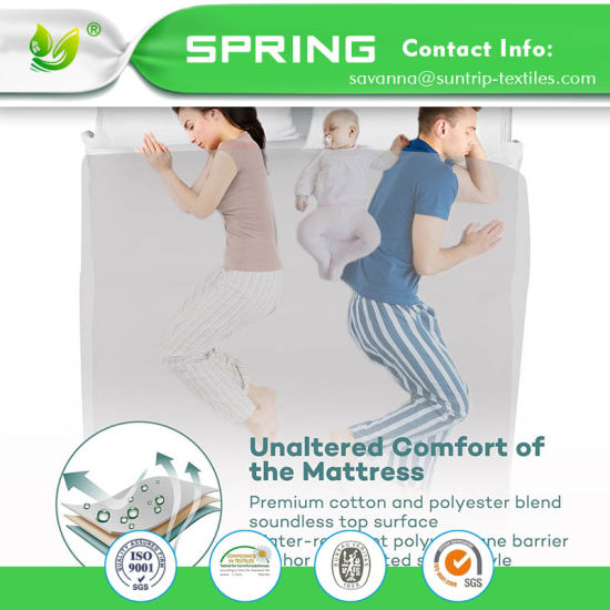 Dust Mite 5 Sided Queen White Waterproof Mattress Protector Fitted Bed Cover