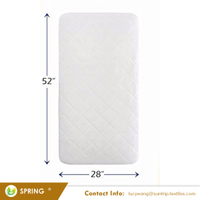 Ultra Soft Waterproof From Bamboo Rayon Fiber Crib Mattress Protector Pad