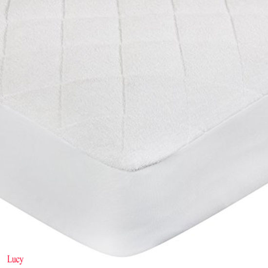 Quilted Ultra Soft White Bamboo Terry Fitted Sheet Styles Waterproof Baby Crib Mattress Protector/Pad