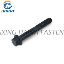 DIN6922 Gr8.8 Hexagon Flange Bolt Hex Flange Bolt with Reduce Shank Black