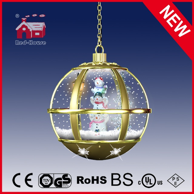 (LH30033-3S1-JJ11) Modern Gold Color Snowman Family Holiday Hanging Lamp with LED