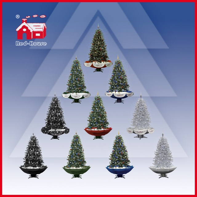(40110U190-SS) Wholesale Beautiful PVC Snowing Christmas Tree Colorful Ornaments Decoration
