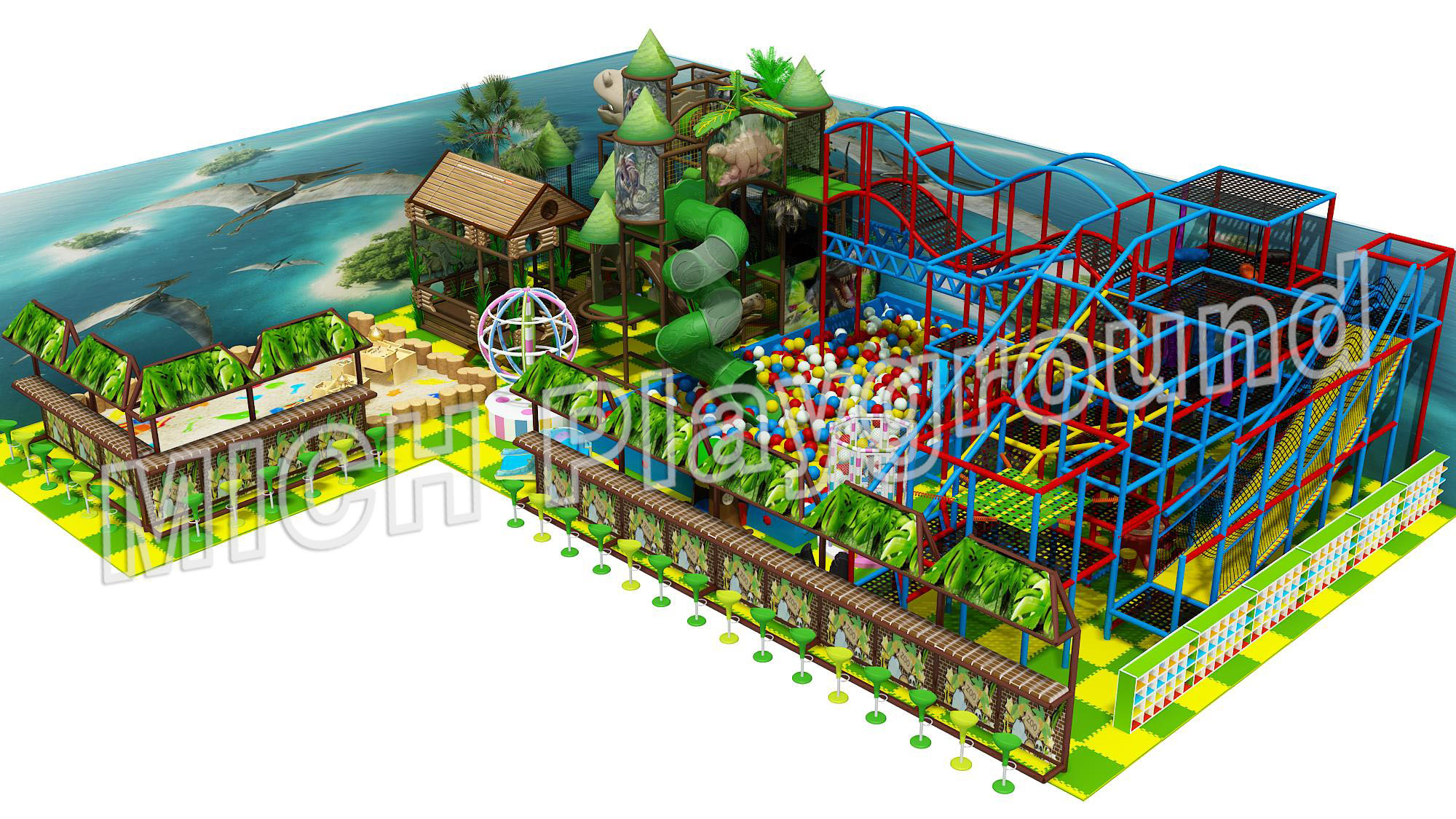 Mich Funny Indoor Amusement Playground 6627B
