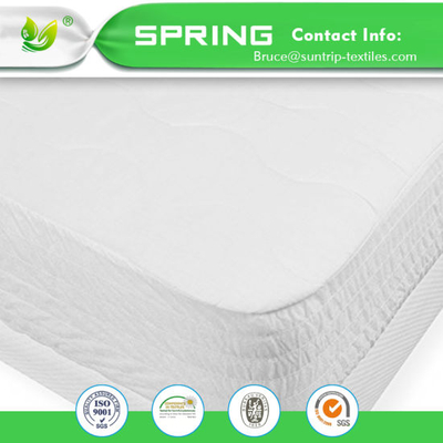 Soft Bed Cover Breathable Fabric Bamboo Mattress Protector Waterproof Dust Mite