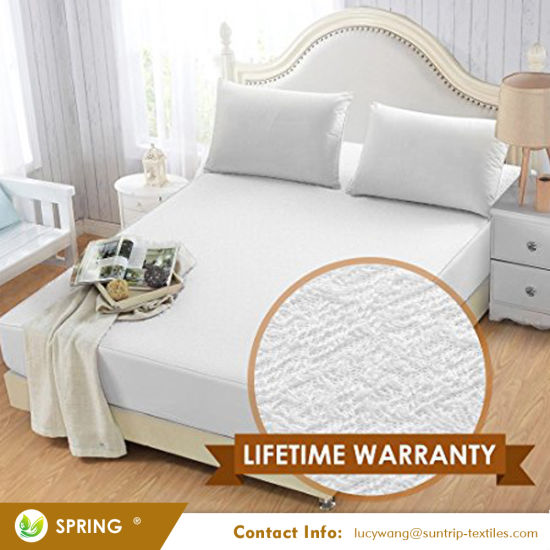 Waterproof Mattress Protector - Breathable Terry Cover Protects Against Dust Mites, Allergens, Bacteria