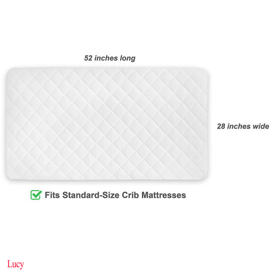 Fits All Baby Portable Waterproof Crib Mattress Pad/Protector/Cover