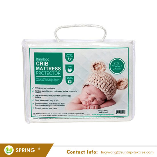 Premium Dust Mite Protection Fireproof Crib Mattress Cover