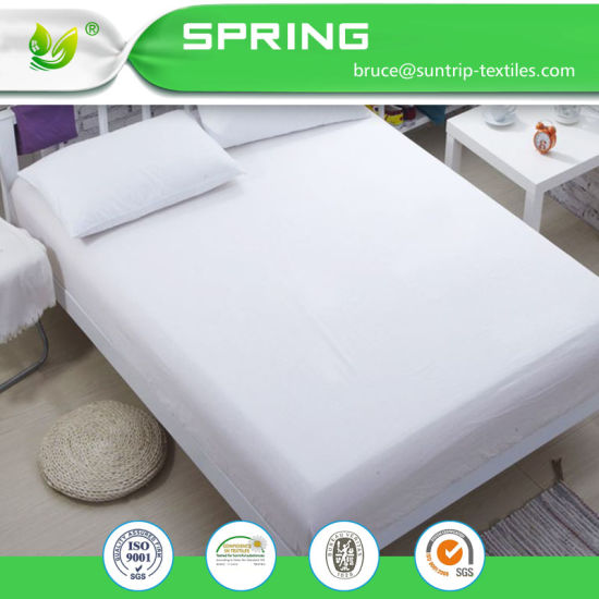 Waterproof Organic Cotton Mattress Covers Anti Mite Mattress Protectors Queen
