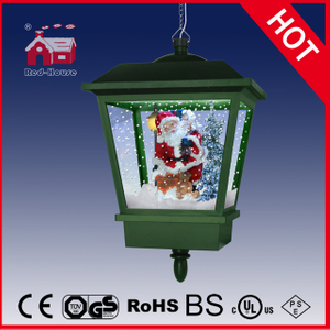 (LH27045E-G) Seasonal Snowing Santa Claus Christmas Musical Hanging Lamp