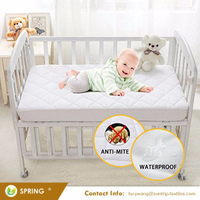 Soft Waterproof Fitted Crib Protective Mattress Pad Cover