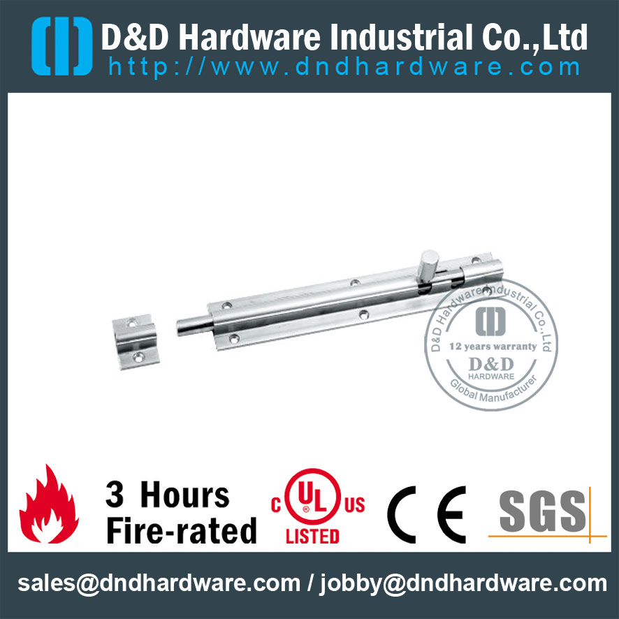 Stainless Steel 304 Surface Barrel Bolt For Interior Wooden Door