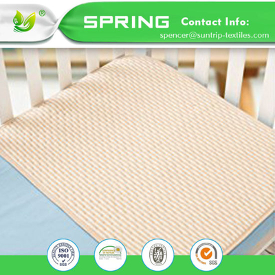 Hypoallergenic Anti Bacterial Crib Mattress Pad Bamboo Terry Waterproof Mattress Cover Baby Changing Mat