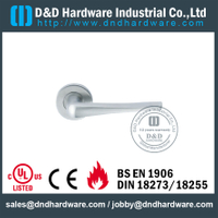 Stainless Steel 304 Modern Lever Handle on Rose Welding Type for Metal Commercial Door-DDTH034