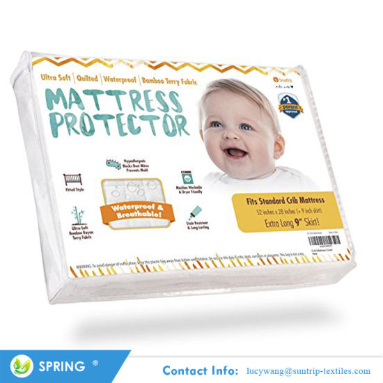 Premium Hypoallergenic Fitted Cover with Extra Padding 28X52X6 Pack N Play Waterproof Mattress Protector