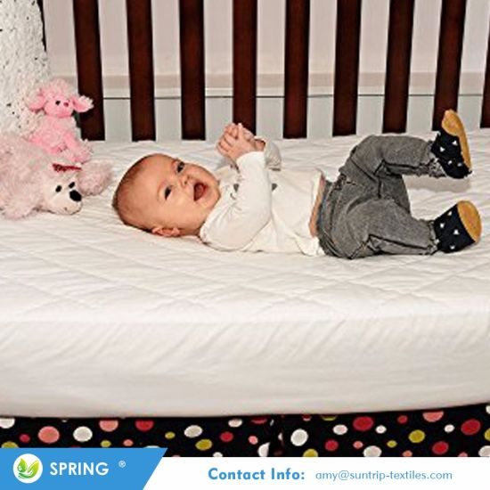 Soft Comfortable Waterproof Fitted Baby Crib Pad Mattress Protector