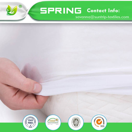 Hypoallergenic Soft Waterproof Bamboo Cotton Jersey Mattress Cover Protector