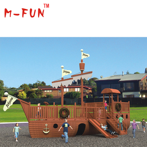 Wooden pirate ship playground