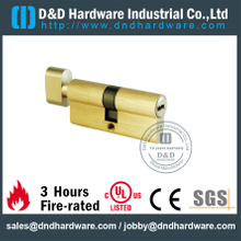 Brass 3 Yale keys Euro Single Thumbturn Cylinder Used in Office Door-DDLC004