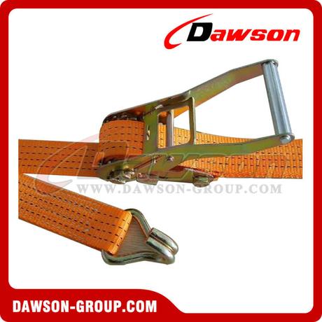 2 Pack 5000kg Ratchet Lashing Claw Hook Cargo Lorry Tie Down Webbing Restraint Straps 12mtr