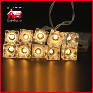 Transparent Ice Battery Light Ice Pendant String Light Wholesale Customized