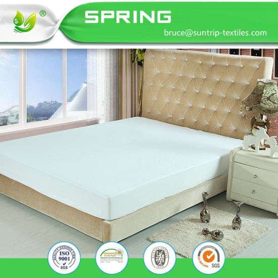 Waterproof Bamboo Mattress Protector Pad Bed Cover Cool Comfortable Queen Size