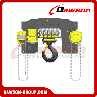 DS-YTG-20 20T, 20000kg Hand Chain Hoist Trolley, Low Clearance Trolley Hoist Combination