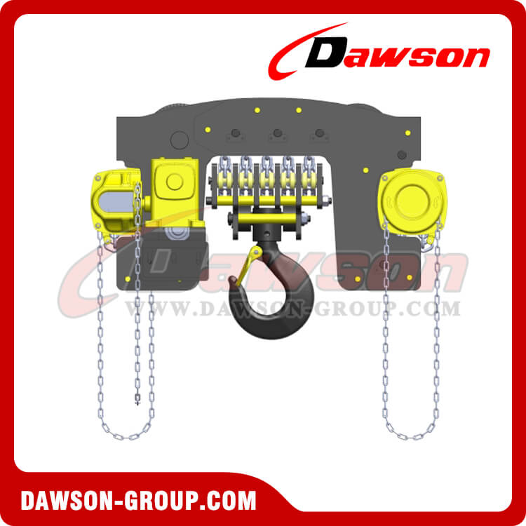 DS-YTG-20 DS-YTG-30 20T,30Ton, 20000kg 30000kg Hand Chain Hoist Trolley, Low Clearance Trolley Hoist Combination