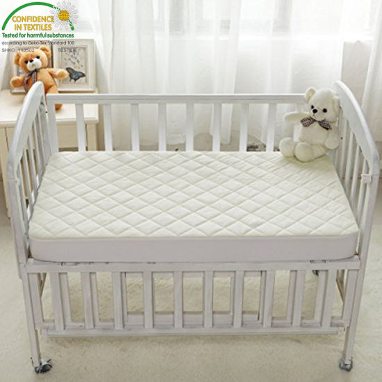 "Unbleached Non-Toxic and Hypoallergenic (28"" X 52"" X 7"") Fire Retardant Crib Mattress Cover"
