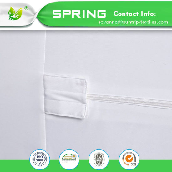 Breathable Mattress Protector Zippered Encasement Dust Mite Bed Bug Proof Queen