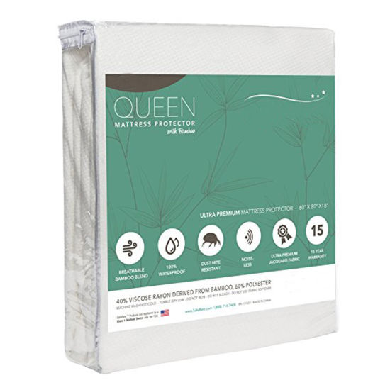 Premium Queen Size Fitted Deep Pocket Waterproof Mattress Protector