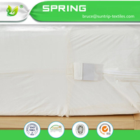 Waterproof Mattress Encasement Zippered Bed Bug Hypoallergenic Protector Cover