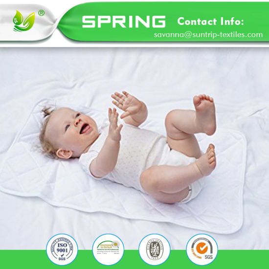 Soft Bamboo Terry Cloth or Waterproof TPU Baby Changing Pad Liners Reversible