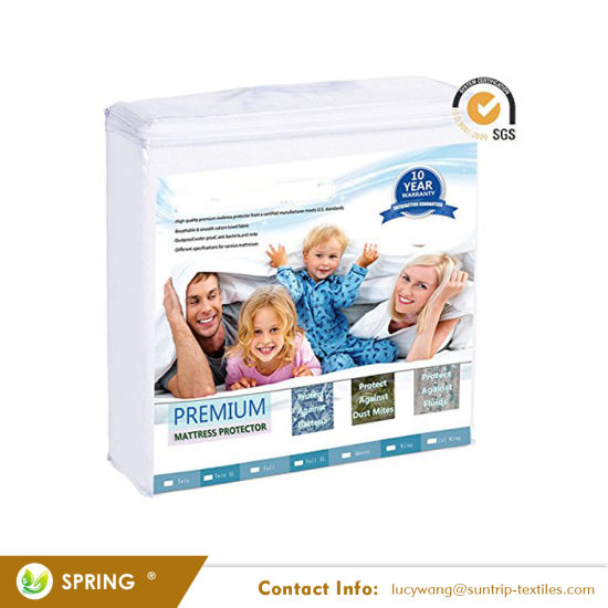 Bed Bug Dust Mite Proof Waterproof Mattress Cover with Zipper