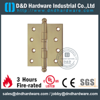 DDBH001-Solid brass ball tip hinge with BHMA standard for Restroom Door