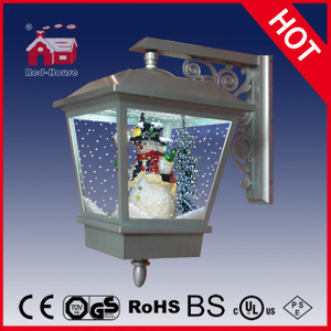 (LW40045H-S) Snowing Hanging Christmas Wall Lamp with Snow and LEDs