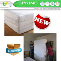 Bed Bug/Allergy Relief Waterproof Zippered Vinyl Mattress Cover/Protector Queen Size