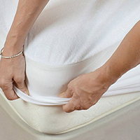 Hypoallergenic, Breathable, Thin, Quiet, Smooth, No Vinyl, Waterproof Fitted Mattress Protector