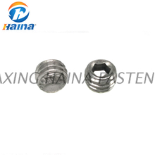Galvanized Class 8.8 Hexagon socket recessed end set screw with knurled DIN914