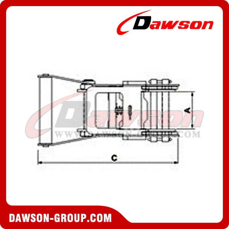 Stainless Steel AISI 304 Ratchet Buckle - Dawson Group