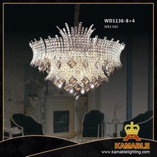 Hotel Brass with crystal Classical chandelier(WD1136-8+4)