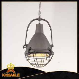Antique steel decorative concise pendant light(KM047P(antique grey))